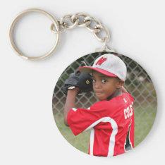 Custom Sports Photo Keychain at Zazzle