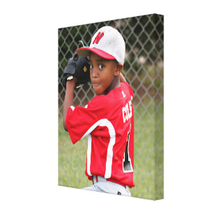 Custom Sports Player Athlete Photo Wrapped Canvas