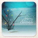 """Custom Square Coasters - Merry Christmas<br><div class=""""desc"""">Custom Square Coasters - Merry Christmas</div>"""