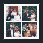 """Custom Square Collage Wedding Photo & Text Canvas Print<br><div class=""""desc"""">Create your own canvas print wall art with your own wedding,  anniversary,  engagement and special event photos.</div>"""