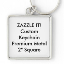 Custom Square Keychain Key Ring Blank Template