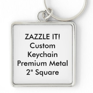 Custom Square Keychain Key Ring Blank Template