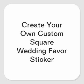 Custom Square Wedding Favor Sticker