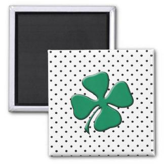 Custom St. Patrick's Day Green Clover Magnet