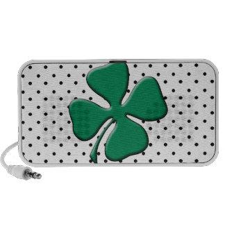 Custom St. Patrick's Day Green Clover iPod Speakers