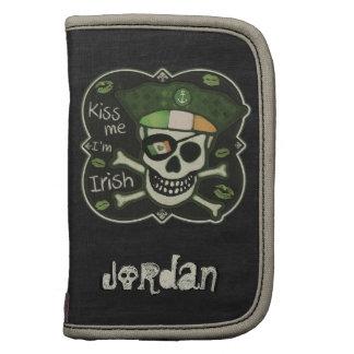 Custom St. Patrick's Day Irish Pirate Folio Mini Organizer