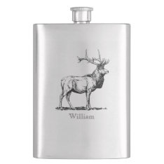 Custom Stag Flask at Zazzle