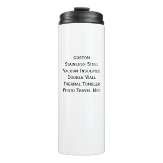 Custom Stainless Steel Double Wall Photo Travel Thermal Tumbler
