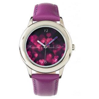 Custom Stainless Steel Purple Watch
