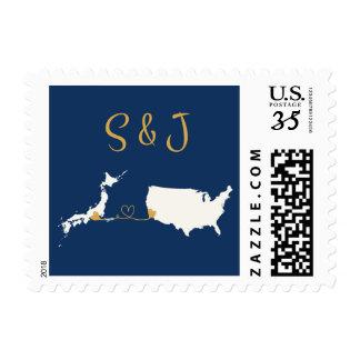 Custom Stamp Small USA+Japan for S and J