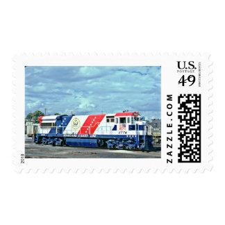Custom Stamp steam train