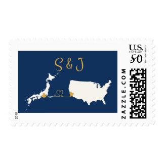 Custom Stamp USA+Japan