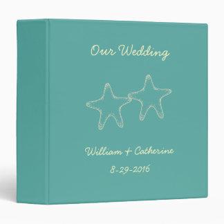 Custom Starfish Beach Wedding Album Binder Gift