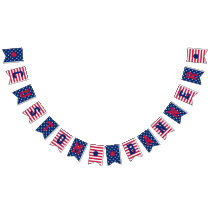 Custom Stars Stripes 4th of July Patriotic Banner