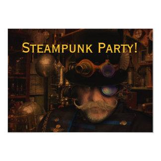 Custom Steampunk Party Card