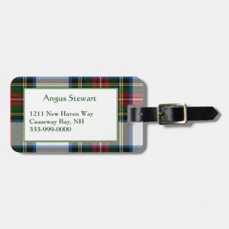 Custom Stewart Dress Tartan Plaid Luggage Tag