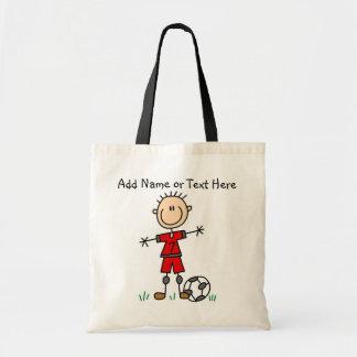 Custom Stick Figure Red Soccer Player  Bag