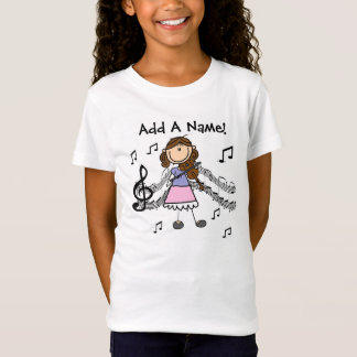 Custom Stick Figure Violin Player T-shirt