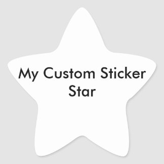 Custom Sticker - Star Shaped