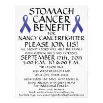 Custom Stomach Cancer Benefit Flyer