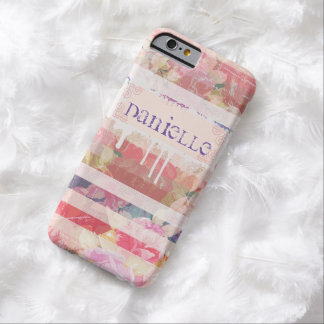 Custom Stripe and Floral Pattern iPhone 6 Case