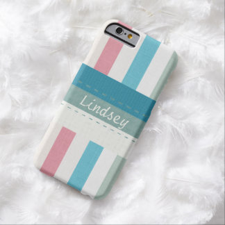Custom Stripes and Stitches Pattern iPhone 6 Case