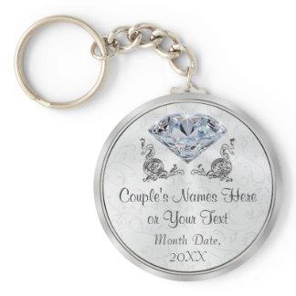 Custom Stunning yet Cheap Diamond Wedding Favors Keychain