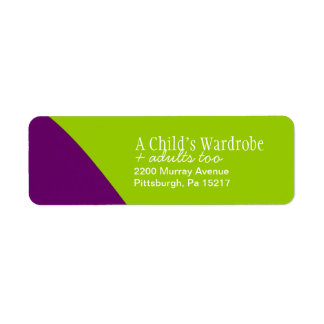 Custom Stylish Return  Address Label