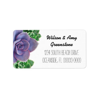 Custom Succulents Return Address Labels
