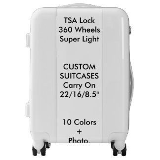 Custom Suitcase - WHITE Carry On Cabin Proof
