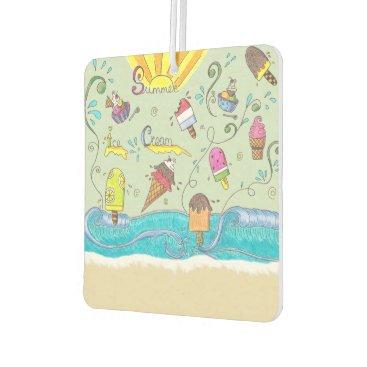 Beach Themed Custom summer air freshener