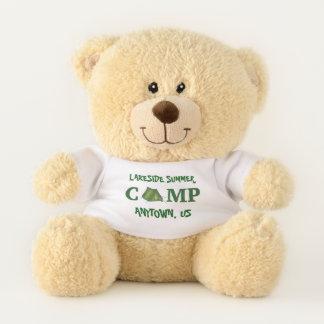Custom Summer Camp Green Tent Campground Teddy Bear