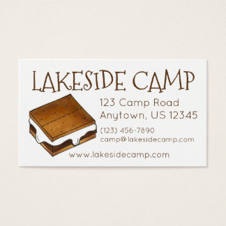 Custom Summer Camp Smore S'mores Business Cards