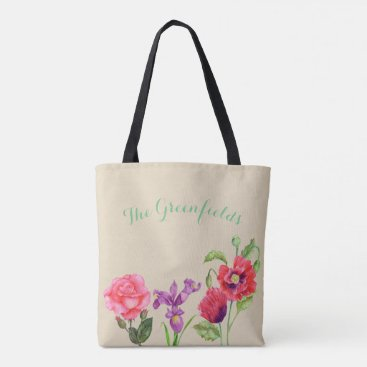 Professional Business Custom Summer Flowers Tote Bag