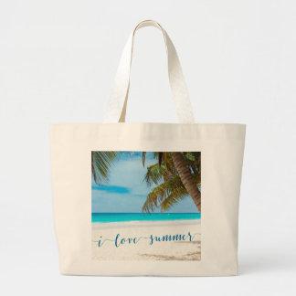 Custom Summer Large Beach Bags I Love Summer