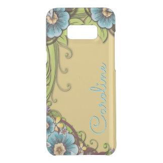 Custom Summer Yellow Turquoise Floral Vine Pattern Uncommon Samsung Galaxy S8+ Case