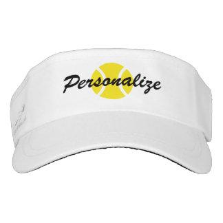 Custom sun visor cap for tennis player and coach