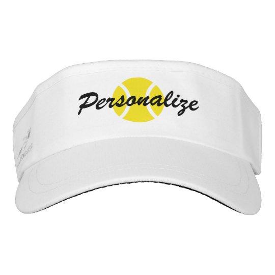 97bea15cfbd Custom sun visor cap for tennis player and coach