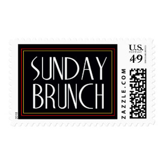 Custom Sunday Brunch Invitation STamp