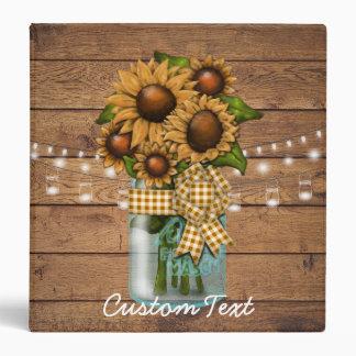 Custom Sunflower Country Binder Photo Album