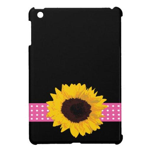 Custom Sunflower Monogrammed Gifts iPad Mini Covers