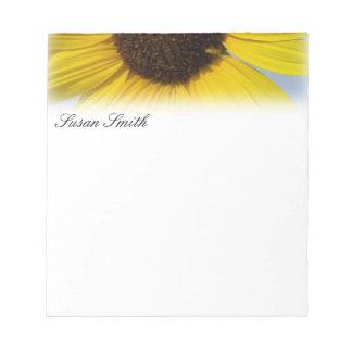 Custom Sunflower Notepad