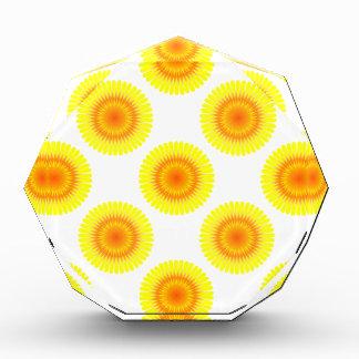 Custom Sunflower Pattern Acrylic Award