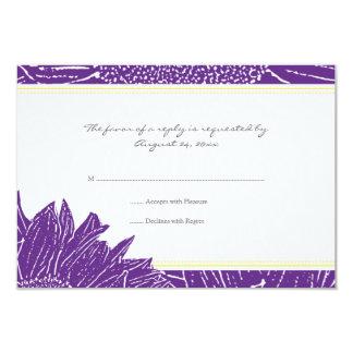 ::custom: Sunflower RSVP Card: Yellow & Purple526 Card