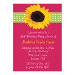 "Custom Sunflower Sweet 16 Birthday Invites 5"" X 7"" Invitation Card"