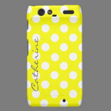 Custom Sunny Polka Dot Motorola Razr Case Droid RAZR Cover