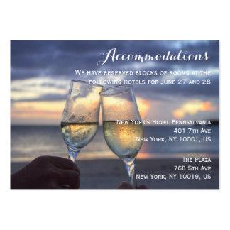 Custom Sunset On Beach Wedding Accommodation Cards