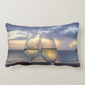 Custom Sunset On The Beach Lumbar Pillows