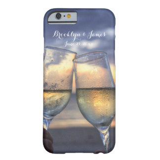 Custom Sunset On The Beach Wedding iPhone 6 Cases