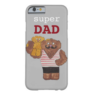 Custom Super Dad Circus Strongman Daddy Barely There iPhone 6 Case
